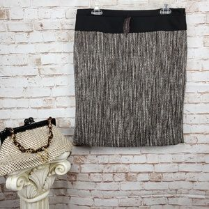 NWT The Limited 10 Gray/Black Tweed Pencil Skirt